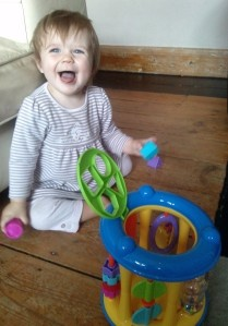 E and her shape sorter