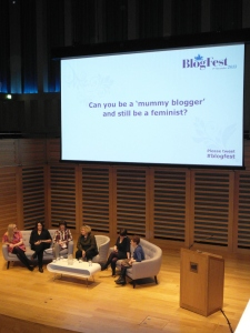 Panel discussion at Blogfest