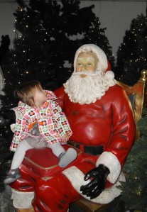 E sitting on Santa's lap
