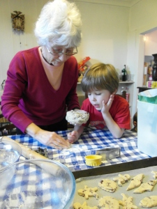 Grandma baking with T2