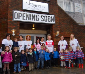 Twin families and the runners at Quay Fifteen