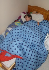 A child in bed